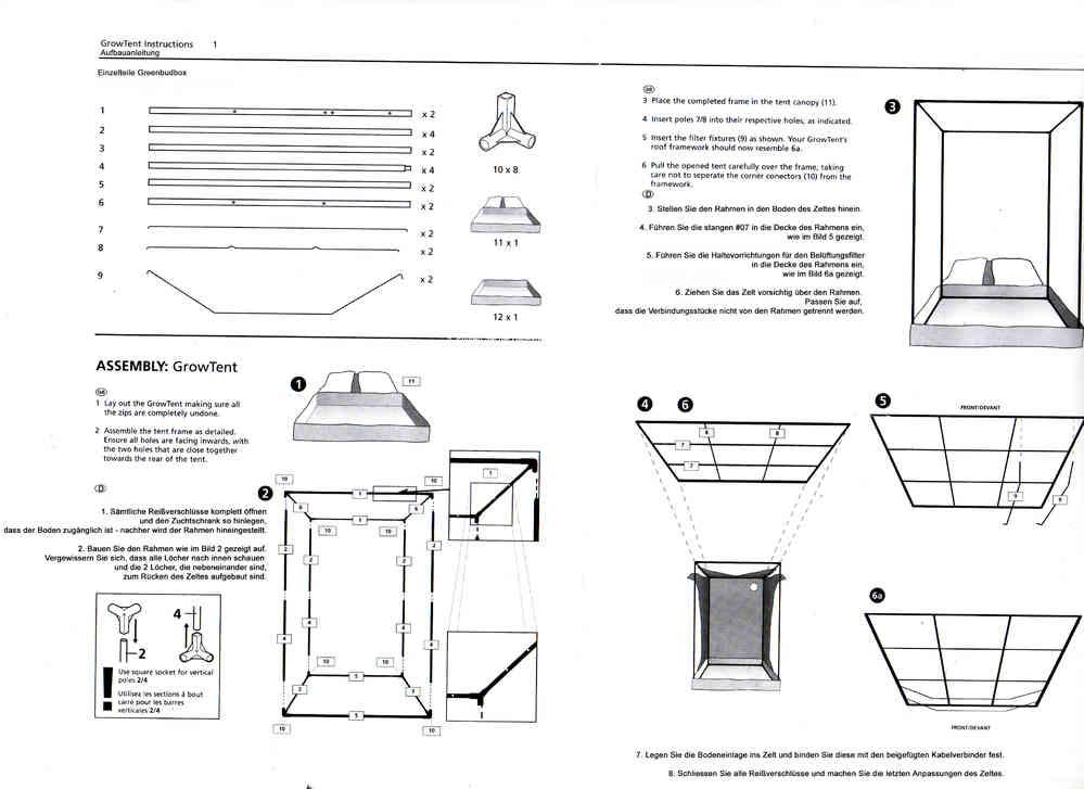 90x60x160 BOX Aufbauanleitung - Growshop Greenbud